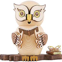 Smoker  -  Owl with Books  -  15cm / 5.9 inch