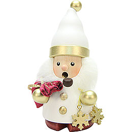Smoker  -  Santa Claus White/Gold  -  12,5cm / 5 inch