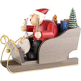 Smoker  -  Santa Claus with Sleigh  -  20cm / 8 inch