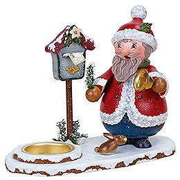 Smoker  -  Santa Claus with Tea Light 14cm / 5 inch
