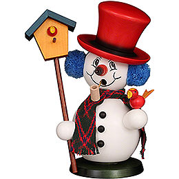 Smoker  -  Snowman with Bird House  -  23cm / 9.1 inch