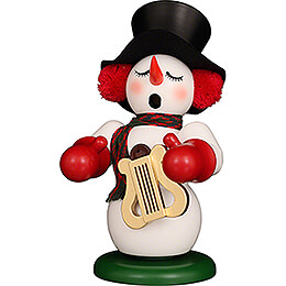 Smoker  -  Snowman with Lyre  -  23,5cm / 9.3 inch