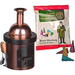 Smoking Stove  -  Brewing Kettle Brown Hammertone  -  13cm / 5.1 inch