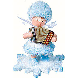 Snowflake with Accordion  -  5cm / 2 inch
