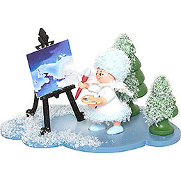 Snowflake with Easel  -  5cm / 2 inch