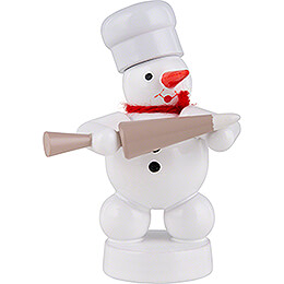 Snowman Baker with Decorating Bag  -  8cm / 3.1 inch