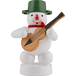 Snowman Musician with Guitar  -  8cm / 3 inch