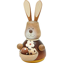 Teeter Bunny with Egg - Basket Natural  -  9,8cm / 3.9 inch