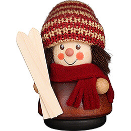 Teeter Man  -  Skier Natural  -  8cm / 3.1 inch