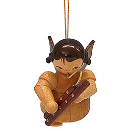 Tree Ornament  -  Angel with Bassoon  -  Natural Colors  -  Floating  -  5,5cm / 2,1 inch