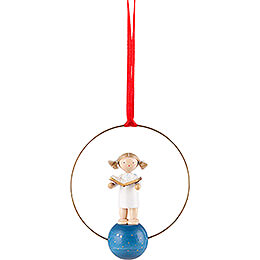 Tree Ornament  -  Angel with Music Book  -  7cm / 2.8 inch