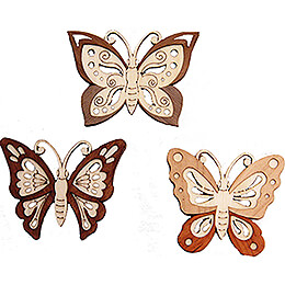 Tree Ornament  -  Butterfly  -  Set of 6  -  5cm / 2 inch