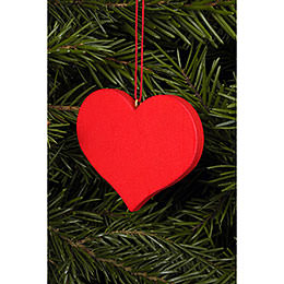 Tree Ornament  -  Heart Red  -  5,7x4,5cm / 2x2 inch