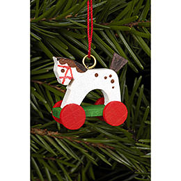 Tree Ornament  -  Horse Mini  -  2,5 / 2,2cm  -  1x1 inch