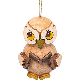 Tree Ornament  -  Owl Child with Book  -  4cm / 1.6 inch