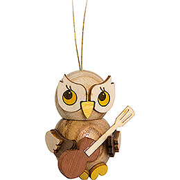 Tree Ornament  -  Owl Child with Guitar  -  4cm / 1.6 inch