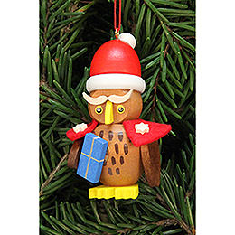 Tree Ornament  -  Owl Santa Claus  -  3,2x6,2cm / 1.3x2.4 inch