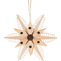Tree Ornament  -  Wood Chip Star  -  11,5cm / 4.5 inch