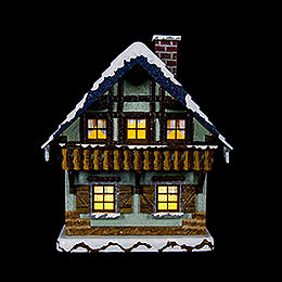 Winter Children House with Balcony  -  15cm / 5,5 inch